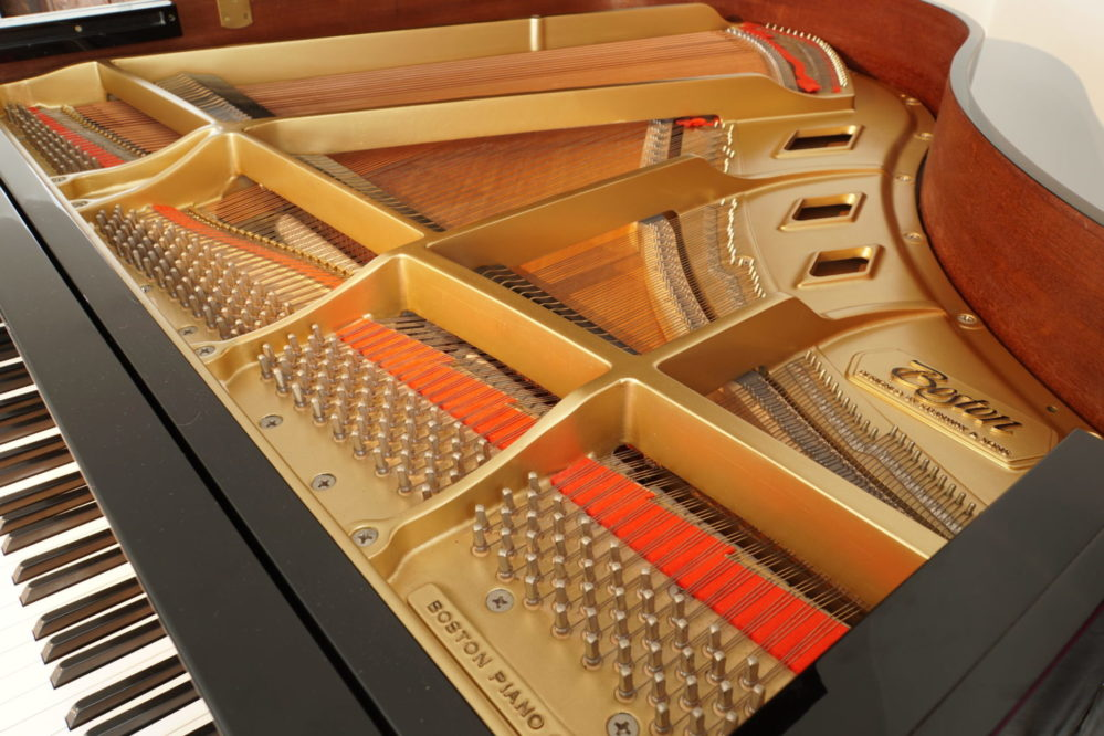 Enjoy a Boston Baby Grand Piano GP156, regularly maintained by Coach House's Senior Technician.