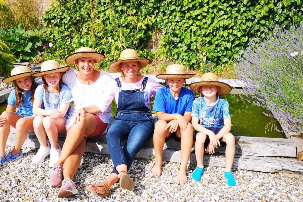 Friends & family enjoying the garden